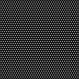 Black and White Polka Dots Pattern. Tiny white polka dots on black background Stock Image