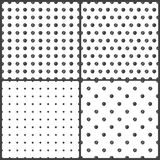 Black and White polka dots seamless pattern. On white background Stock Photography
