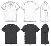 Black White Polo T-Shirt Design Template royalty free illustration
