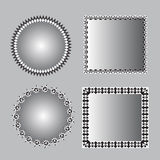 Black and white polygon frame Royalty Free Stock Image