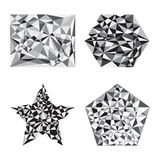 Black and white polygon shape Royalty Free Stock Photo