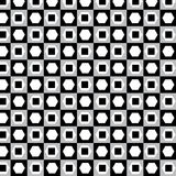 Black and white with polygon and square pattern on silver backgr Stock Image
