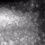 Black and White Polygonal Mosaic Stock Photo