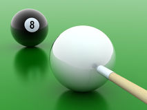 Black and white pool balls Royalty Free Stock Photo
