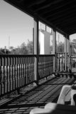 Black and white porch Royalty Free Stock Images