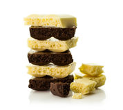 Black and white porous chocolate Royalty Free Stock Images