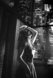 Black&white-Porträt einer Tanzendame lizenzfreie stockbilder