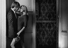Black&white-Porträt eines Paares Stockbild