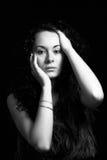 Black-white portrait Stock Photo