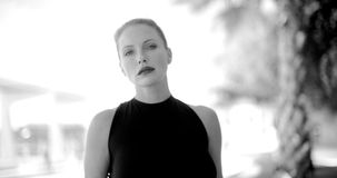 Black and White Portrait of Business Woman stock footage