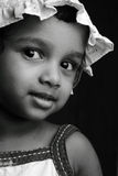 Black and white portrait of a girl Royalty Free Stock Photo