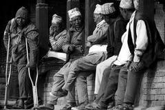 Black and white portrait of Newars of Bhaktapur,Nepal Royalty Free Stock Photos