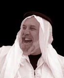 Black and White Portrait - The Sheik Laughs Royalty Free Stock Photos
