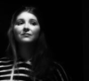 Black and white portrait young woman Royalty Free Stock Photo