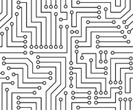Black and White Printed Circuit Board Stock Photo