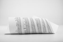 Black and white printed paper roll Stock Image