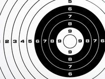 Black and white printed shooting target Royalty Free Stock Photos