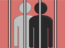 Black and White Prisoners (Vector) Stock Photos