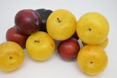 Fresh prunes fruit food. Black white prunes fresh prunes royalty free stock photos