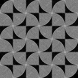 Black and White Psychedelic Circular Textile Royalty Free Stock Image