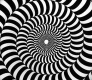 Black and white psychedelic hypnotic swirl pattern royalty free illustration