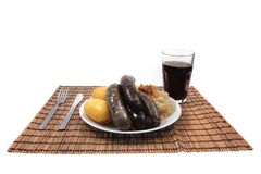Black and white pudding Royalty Free Stock Photo