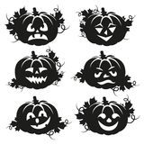 Black and white pumpkin for Halloween Stock Images