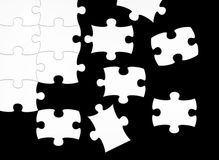 Black and white puzzle Royalty Free Stock Image