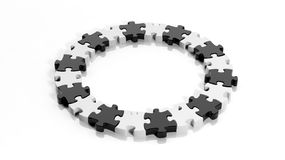 Black and white puzzle Royalty Free Stock Photo