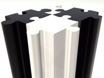 Black and white puzzle pieces Royalty Free Stock Photography