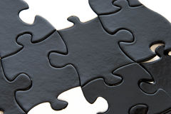 Black and white puzzle pieces Royalty Free Stock Image