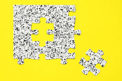 Black and white puzzle Stock Photo