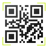 Black and white QR code Royalty Free Stock Images