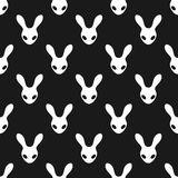 Black and white rabbit pattern Royalty Free Stock Photo