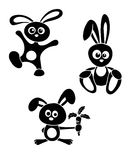 Black-and-white rabbits Royalty Free Stock Images