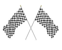 Black and White racing flag isolated on a white Stock Images