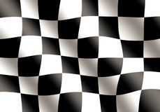 Black and White Racing Flag Waving Royalty Free Stock Photo