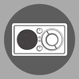 Black and white radio reciever stock illustration