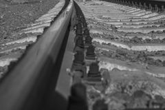 Black and white rails stock images