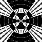 Black and white ray transmission symbol Royalty Free Stock Image