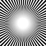 Black and white Rays, starburst background with alternating, che Stock Photography