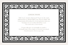 Black and white rectangle frame Royalty Free Stock Photos