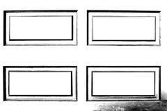 Black and white rectangle frame Stock Image