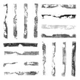 Black and White rectangular paint stamps Royalty Free Stock Photo
