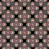 Black, white, red abstract background with circles. Raster seamless pattern. black, white, red abstract background with circles stock illustration