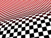 Black, white, and red checks. A background of black, white and red checkerboard Royalty Free Stock Photo
