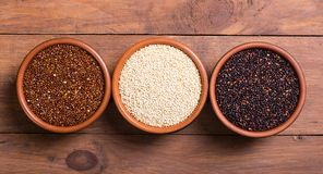 Black , white and red quinoa Stock Images
