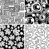 Black and white and red seamless collection Stock Photo