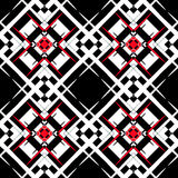 Black and white, red  style pattern. Stock Photography