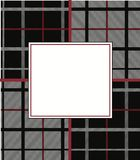 Black white and red woven Plaid  graphic pattern Stock Image